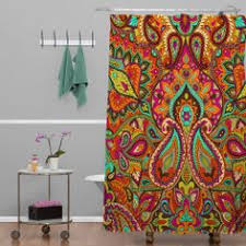phoebe paisley shower curtain duvet bath and dorms decor
