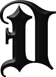 gothic letter u0027d u0027 tattooforaweek temporary tattoos largest