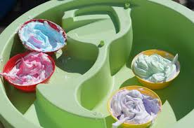 shaving cream painting toddler young child activity