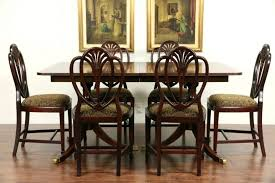 Baker Dining Room Furniture Baker Dining Room Table Price Banded Mahogany Vintage Double