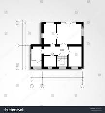 architectural drawing floor planicon ground floor stock vector