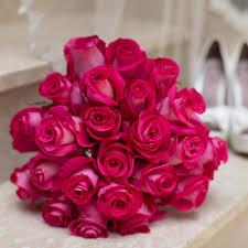hot pink roses hot pink roses bridal bouquet bemyrose