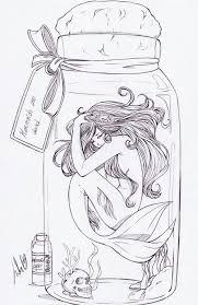 25 mermaid sketch ideas beautiful mermaid