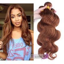 Brown Hair Extensions by Remeehi Body Wave 30 Honey Brown Hair Weft Human Hair Extensions