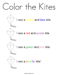 color kites coloring twisty noodle