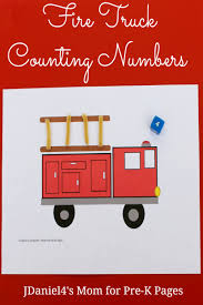fire truck invitations fire truck counting game pre k pages