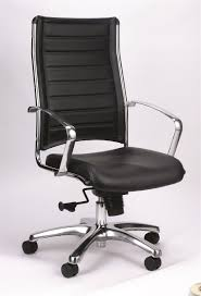 High Back Leather Armchair Eurotech Europa Le811 Leather Executive Chair With Metallic Accents