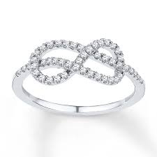 infinity diamond ring jared diamond infinity ring 1 4 ct tw cut sterling silver