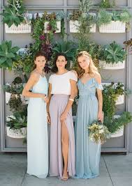 joanna august bridesmaid mismatched bridesmaid style from joanna august pastel