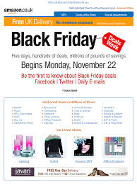 when is amazon black friday deals email marketing black friday amazon example vero the event