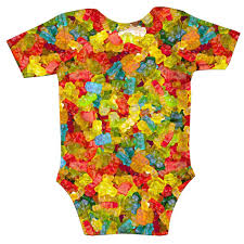 baby halloween onesies gummy bears invasion baby onesie shelfies