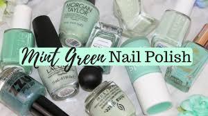 top 10 nail polishes mint green nail polish picks u0026 swatches