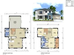 small house plan 3d home design floor modern plans 2 story designs