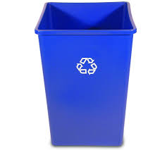Waste Paper Bins Rubbermaid 35 Gal Untouchable Square Recycling Bin Recycle Away