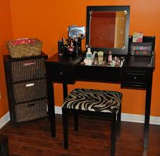 black vanity with lights high end makeup vanity set with lighted mirror in black decofurnish