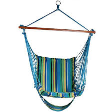 sunnydaze 26 inch wide hanging hammock chair with footrest ocean