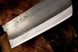 big vegetable knife kurouchi nakkiri knife 180mm