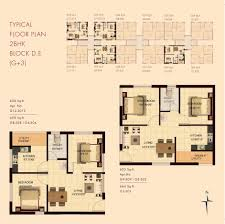 2bhk floor plan typical floor plan 2 bhk block d e marg properties builders in