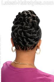 braided pin up hairstyle for black women 101 african hair braiding pictures photo gallery rear view