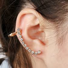cuff piercing zldyou fashion left right ear cuff curved piercing