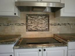 decorating unbelievable natural tile backsplash ideas with decorating gorgeous tile backsplash ideas with artistic touch of middle line plus induction stove and