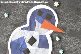 stained glass snowman free printable kid craft
