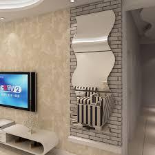 online get cheap wall sticker design aliexpress com alibaba group 3 pcs set 3d acrylic mirror surface wall sticker diy wave mirror design for home living room tv wall art decoration removable