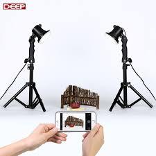 diy 2pcs led lamp 2pcs 40cm light stand mini photo studio kit photography studio light