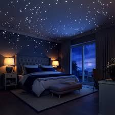 amazon com mafox glow in the dark wall or ceiling moon stickers glow in the dark stars wall stickers 252 adhesive dots and moon for starry sky