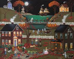 Halloween Decorations Usa by Catherine Holman Folk Art Pirate U0027s Cove Halloween Painting