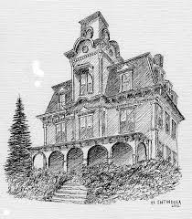 old house drawing by al intindola