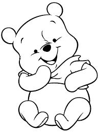 winnie pooh black white coloring free download