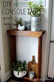 Diy Console Table Quick And Easy Diy Console Table Finding Home Farms