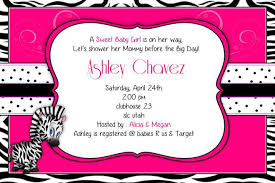 zebra baby shower pink zebra baby shower invitations gangcraft net