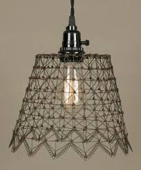 Chandelier Swag Lamp Primitive French Chicken Wire Swag Lamp Lamp Shade Pro