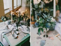 bud vase garland winter wedding inspiration green wedding shoes
