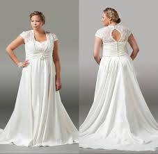 elegant plus size wedding dresses lace pleated 2016 spring white