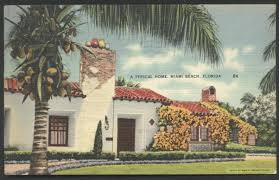 miami home beach bungalow house in florida postcard florida