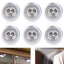 battery operated under cabinet light tinksky set of 6 click push led lamp night light lamps battery
