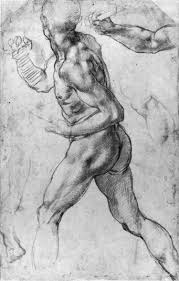 male turning left michelangelo buonarotti old masters in