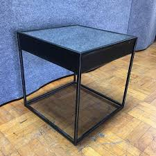 Restoration Hardware Side Table Restoration Hardware Gramercy Black Side Table Chairish