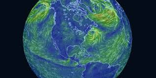 Earth World Map by This Trippy Map Of Global Wind Patterns Is A Massive Time