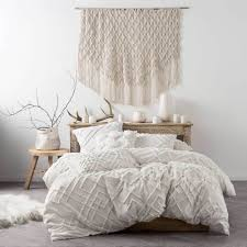 king bed sanura white quilt cover u0026 pillowcase set by linen house