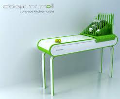 space saving kitchen table yanko design