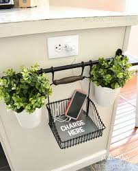 How To Decorate Small Spaces Do It Yourself Clever Charging Stations Small Spaces Decorating