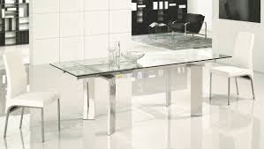 Expandable Glass Dining Table Expandable Glass Dining Table - Modern glass dining room furniture