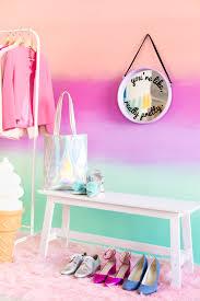 diy colorful ombre wall studio diy