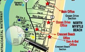 south carolina beaches map getting to myrtle south carolina