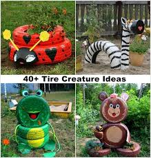 Craft Garden Ideas - 40 ideas to craft recycled tire creatures for your garden 1