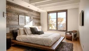 revetement mural chambre décoration chambre adulte mur blanc revetement mural bois